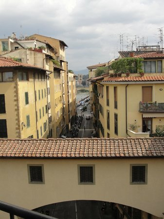 Pitti Palace al Ponte Vecchio:                   View from our room