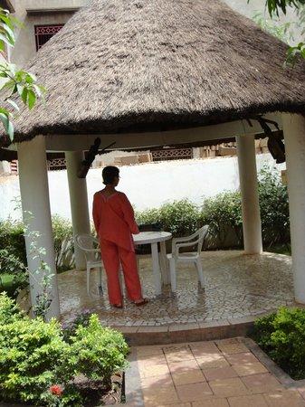 La Venise Malienne: tonnelle du jardin