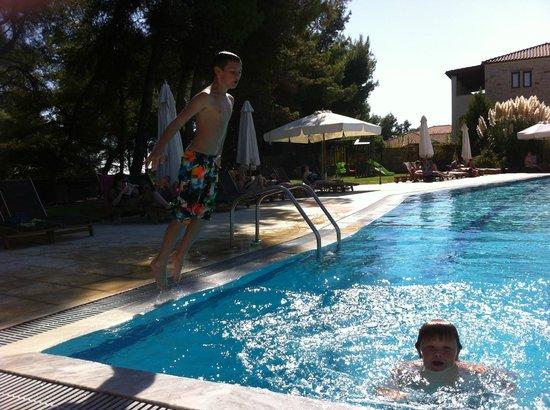 Nostos Hotel:                   pool area