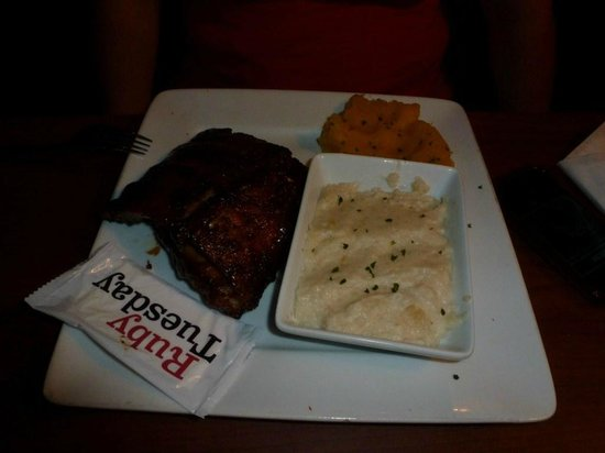 ruby Tuesdays:                   Ribs