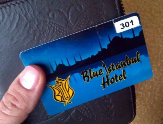 Blue Istanbul Hotel: door key