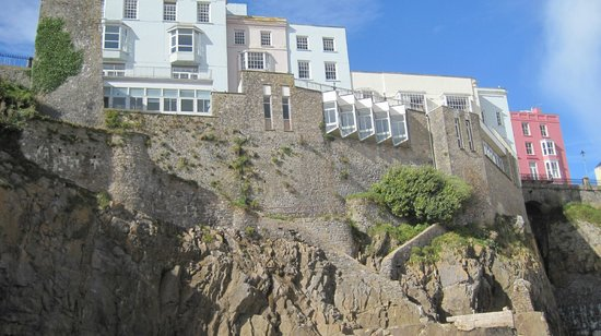 The Imperial Tenby Hotel:                   view of the hotel from the beach.