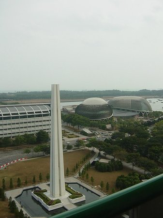 Fairmont Singapore:                                     View from room