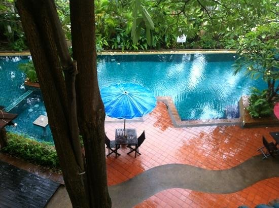Citin Garden Resort:                   view from our room on a rainy day