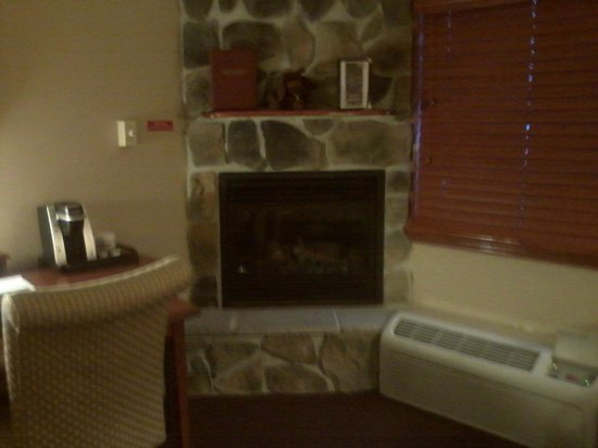 Fireside Inn & Suites:                   Fireplace in my room