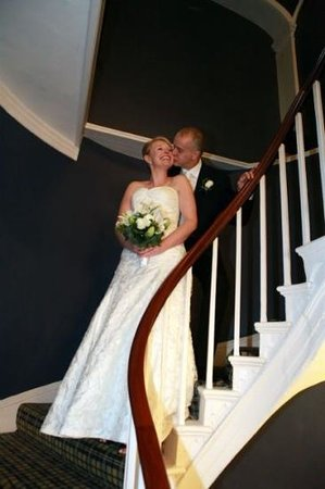 Eastclose Country House Hotel:                   inside the East Close on its fabulous winding staircase!