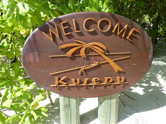 Kuredu Island Resort & Spa:                   Welcome sign