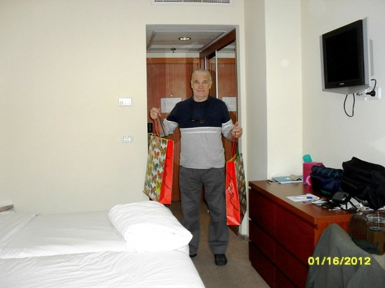 Grand Beach Hotel:                   Entrada a la habitación
