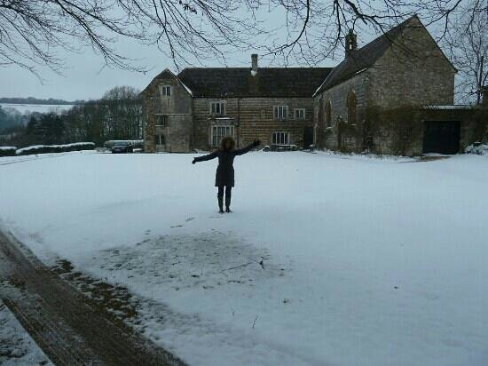 Higher Melcombe Manor in Dorset -we got some snow,  perfect country house.