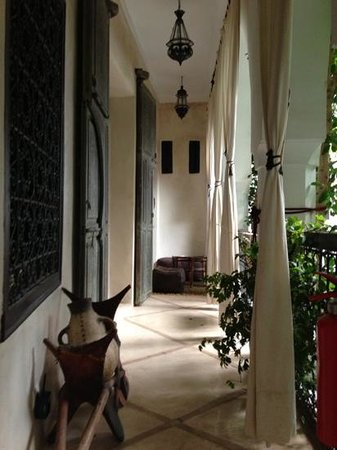 Riad Tawanza:                   Balcony of Cinnamon Suite