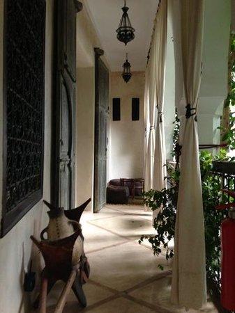 Riad Tawanza :                   Balcony of Cinnamon Suite