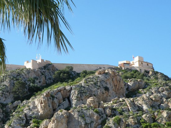 Aguilas, Spain:                                                                         The castle - a long clim