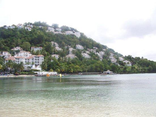 Windjammer Landing Villa Beach Resort: Resort view from beach