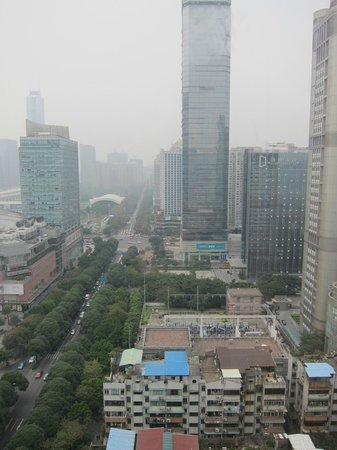 Oakwood Premier Guangzhou:                   Great views of the business district