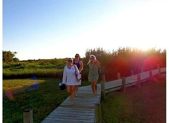 South Seas Island Resort:                   Natural walkway to beach
