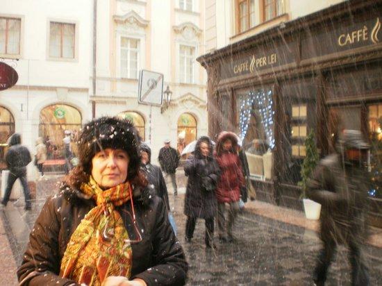 Residence Bologna: Praga con nieve.