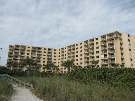 Canaveral Towers Condominiums:                   View from beach