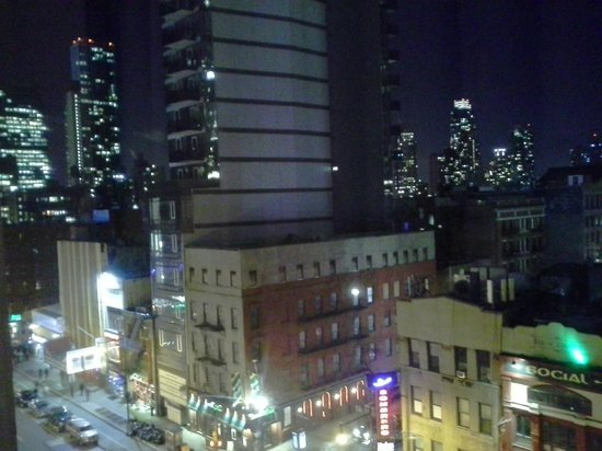 Hilton Garden Inn Times Square:                   Loved my view of the night lights