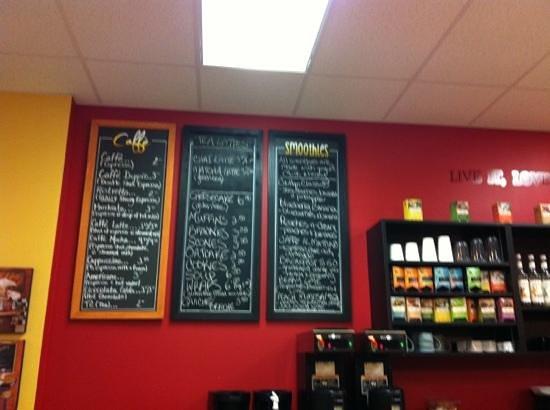 Cafe Brea:                   Jan 2013 menu (doesn't show coffee options)