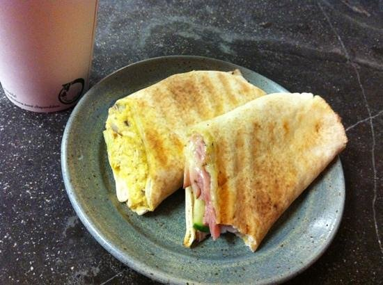 Cafe Brea:                   wraps and green decompostable cup