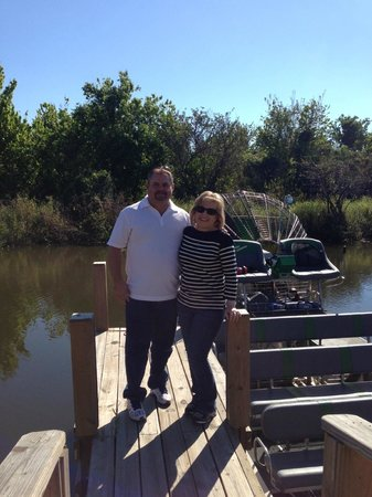 Airboats & Alligators:                                     us next to airboat