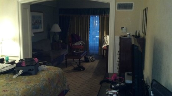 Boston Harbor Hotel:                   Looking into Room