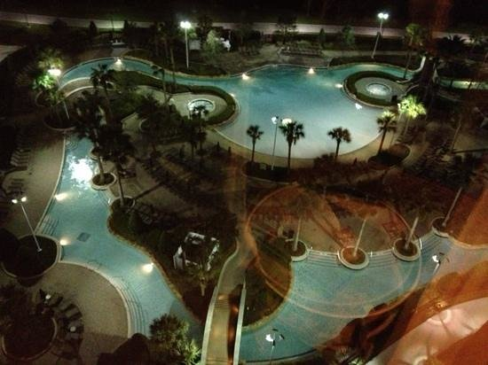 Hilton Orlando Bonnet Creek:                   Ask for a room overlooking the pool/lazy river