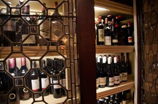 The Angel Inn: Wide selection of wines available