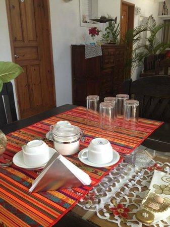 Posada Guaripete:                   O salão de refeições.