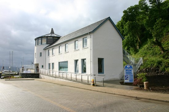 Tobermory Marine Exhibition : The harbour building. The centre is located on the ground floor.