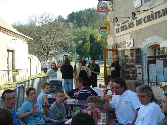 Relais du Chateau :                                     Exterior during Moto weekend