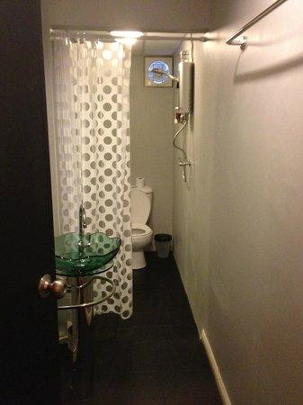 Hotel California:                                     Compact bathroom