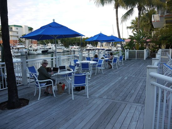 Marina Del Mar Resort And Marina:                   Very large deck seating area