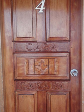 Casa Canada:                                     Beautiful carved doors.