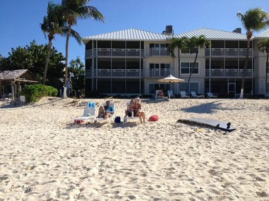 The Cayman Club :                   Looking from the water back to the beach and Cayman Club