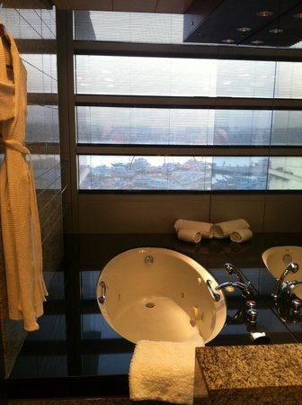 Hilton Dubai Creek: bath with view