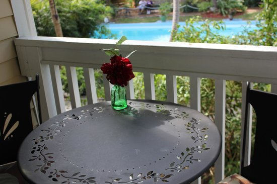 Andrews Inn and Garden Cottages: Hemingway Estate from Pamplona Balcony