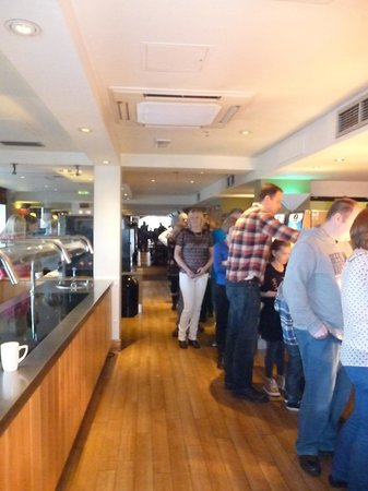 Premier Inn London County Hall Hotel:                   Very slow queues at the one servery