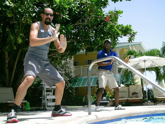 Sandals Royal Caribbean Resort and Private Island:                   Teaching Aqua Zumba