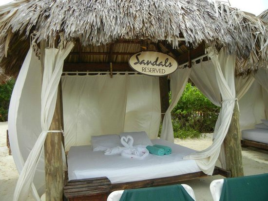Sandals Royal Caribbean Resort and Private Island:                   Beach Cabana's