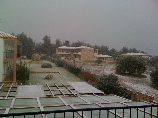 Nostos Hotel:                   snowfalls                 