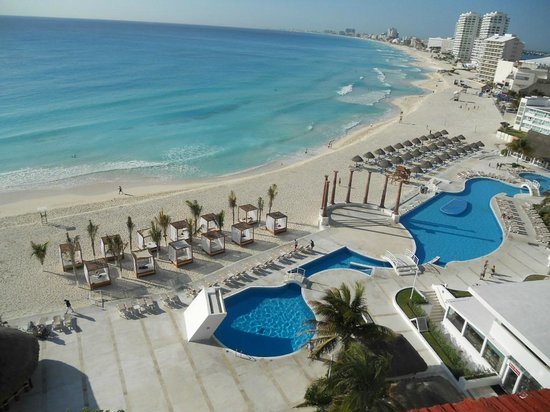 Krystal Cancun:                   Taken from the 8th floor balcony where the plunge pool is