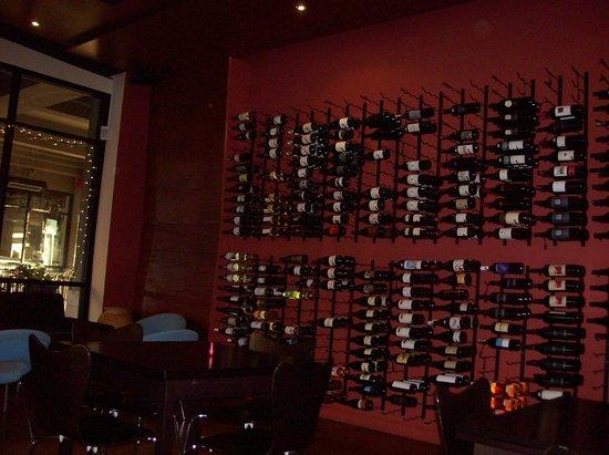 La Dolce Vita Wine Lounge:                   The Wine Wall at La Dolce Vita