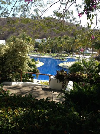 Camino Real Zaashila:                   over looking the pool
