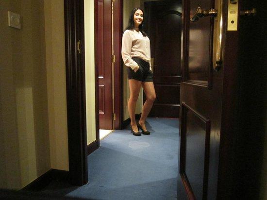 Carlton Hotel:                   mirad la mancha q tiene esta alfombra a mis pies.
