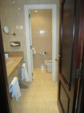 Carlton Hotel:                   entrada del baño