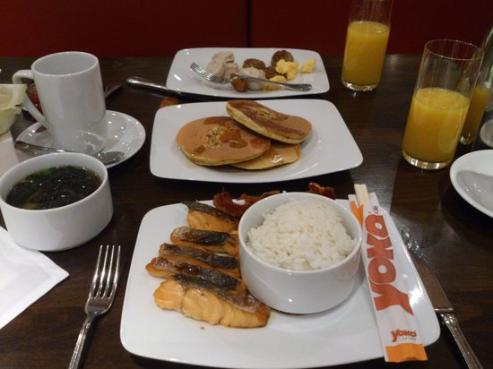 InterContinental Berlin:                   Rice and fish, pancake too