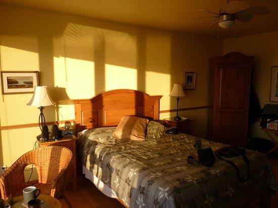 Auberge Cap-aux-corbeaux :                   Chambre spacieuse