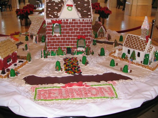 Reunion Resort of Orlando:                   Christmas display in the Lobby