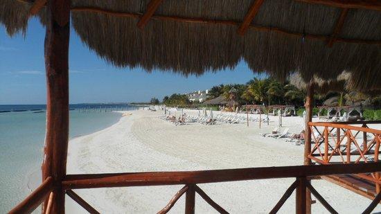 El Dorado Maroma, by Karisma:                   View south on the beach adjacent hotel